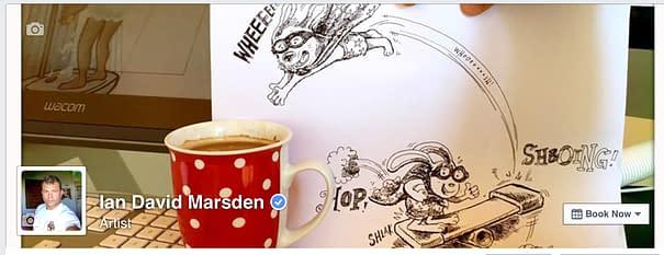 Illustrator and Artist Ian Marsden on Facebook