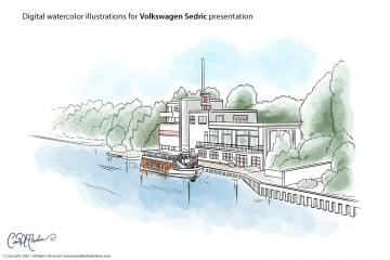 Studio Arrival - Volkswagen Sedric Concept Illustrations
