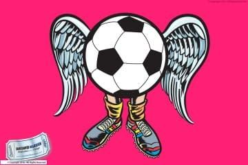 Football Angel Vector Art logo