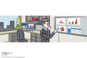 Office Graphs Statistics Charts