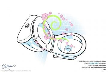 Explainer Illustration - super fresh smell in toilet