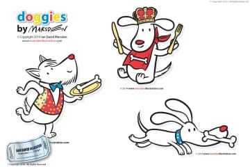 Doggies Character Designs by Ian Marsden