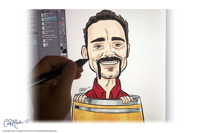 cartoon portraits from photographs