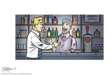 Customer Service in Bar