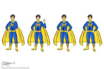 Male Superhero character avatar