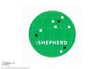 iShepherd Logo with Wireframe