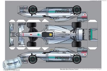 Petronas Formula 1 Cutout for Mercedes Museum
