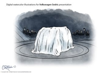 Veiled Presentatio - Volkswagen Sedric Concept Illustrations