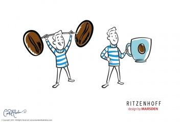 Vector Art Coffee Man for Ritzenhoff