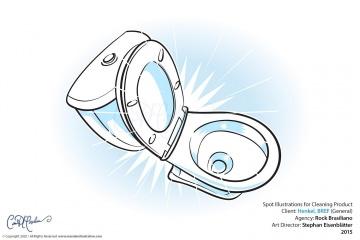 Explainer Illustration - Sparkling toilet