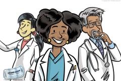 Doctors Business Illustration