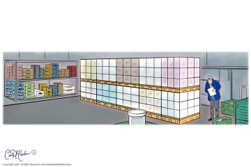 Warehouse Inventory Illustration