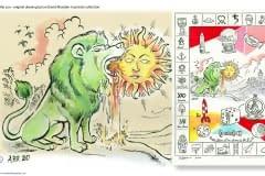 The Green Lion Devours The Sun