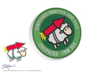 Round Embroidered Patch Design - Rocket Sheep - iShepherd, Inc.