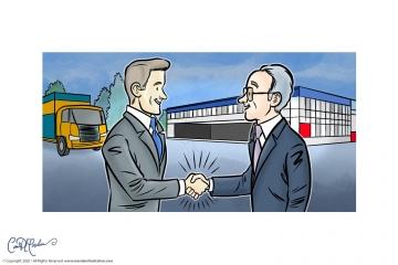Handshake between business partners