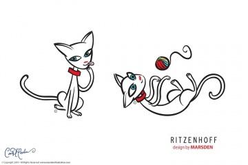 Elegant Clean Cat Character Design