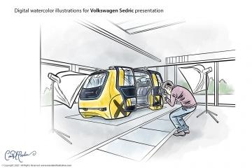 Fotostudio - Volkswagen Sedric Concept Illustrations