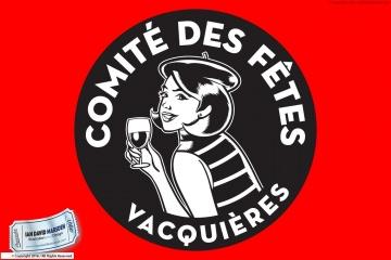 Lady with Wine Vector Logo Vacquieres