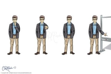 Professor Teacher character avatar