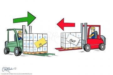 Forklift Vector artwork