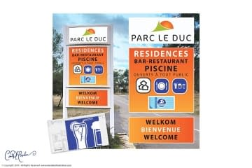 Signage and Icons for Residential Park