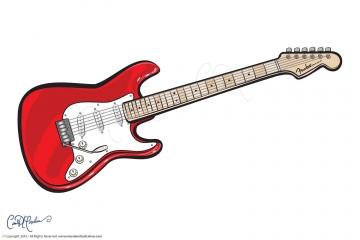 Fun Guitare  - Vector Guitar Logo