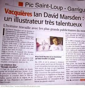 Ian Marsden illustrateur tres talenteux sur Montpellier