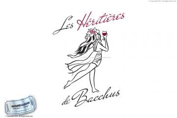 Les Heritieres de Bacchus Logo Design