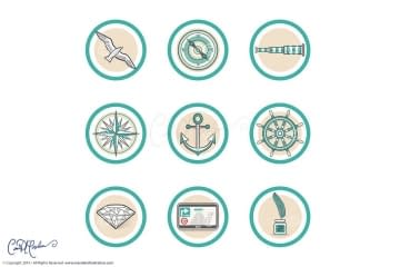 Icons and Web Design - Clear Vector Logos