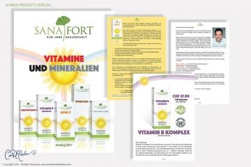 Sanafort Catalog and Product Sheet Design