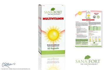 MULTIVITAMIN Packaging and CI Design Sanafort