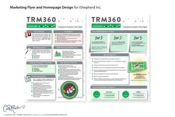 Marketing One Sheet PDF design for iShepherd, Inc.