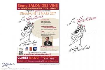 Affiche Poster for Wine Salon