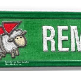 iShepherd Mockup Embroidery Rocket Sheep